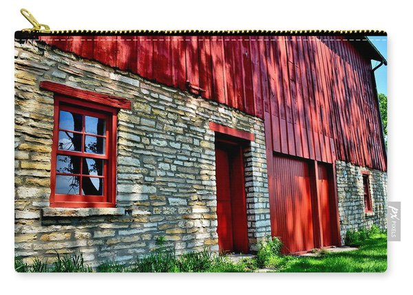 Red Barn In The Shade Carry-all Pouch