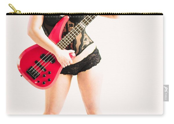 Red Bass Guitar Carry-all Pouch