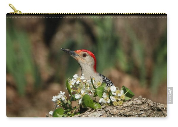 Red-bellied Woodpecker In Spring Carry-all Pouch