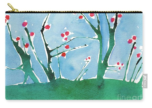 Red Berry Flowers Carry-all Pouch