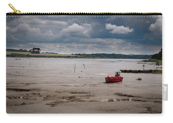 Red Boat On The Mud Carry-all Pouch