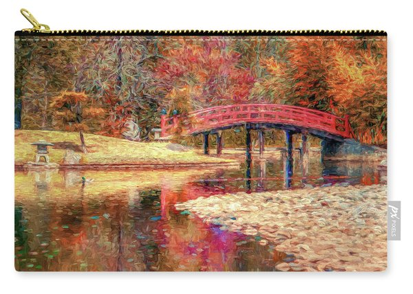 Red Bridge Autumn Carry-all Pouch