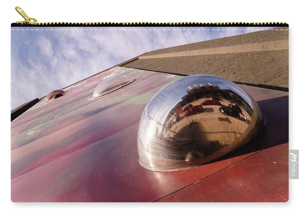 Red Bubble On A Downtown Wall Outside With Reds And Sky In Grand Rapids Michigan Carry-all Pouch