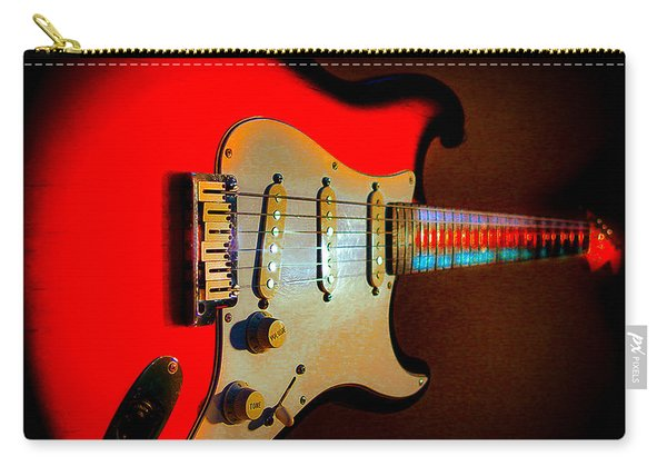 Red Burst Stratocaster Glow Neck Series Carry-all Pouch
