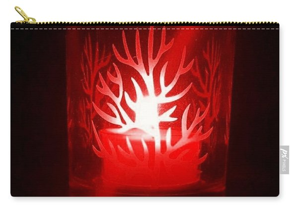 Red Candle Light Carry-all Pouch