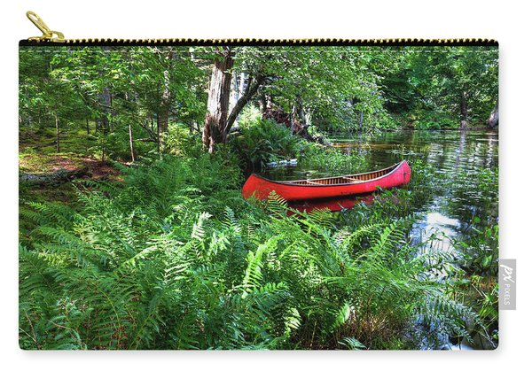 Red Canoe In The Adk Carry-all Pouch