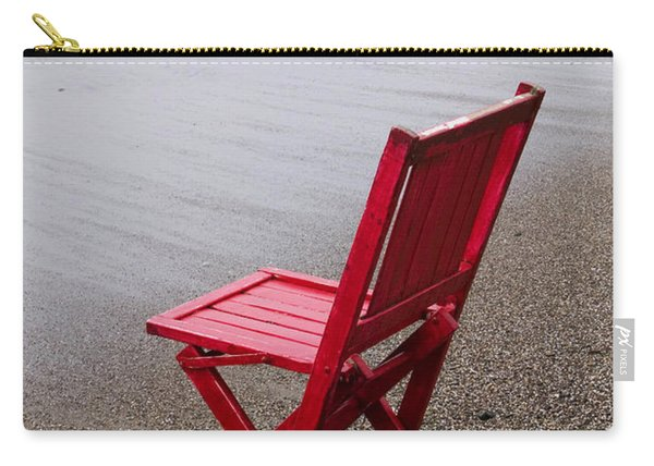 Red Chair On The Beach Carry-all Pouch