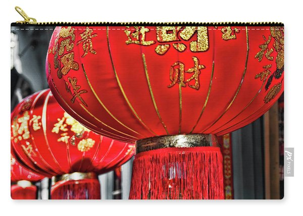 Red Chinese Lanterns Carry-all Pouch