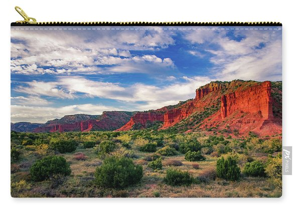Red Cliffs Of Caprock Canyon Carry-all Pouch