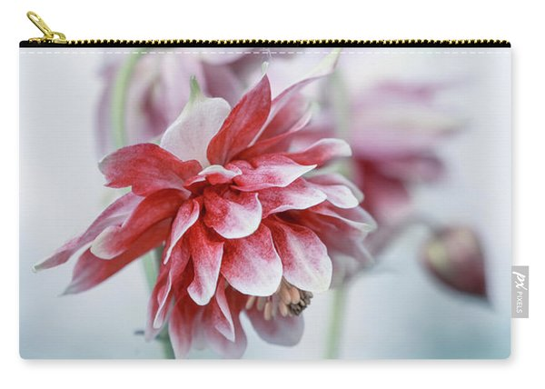 Carry-all Pouch featuring the photograph Red Columbines by Jaroslaw Blaminsky