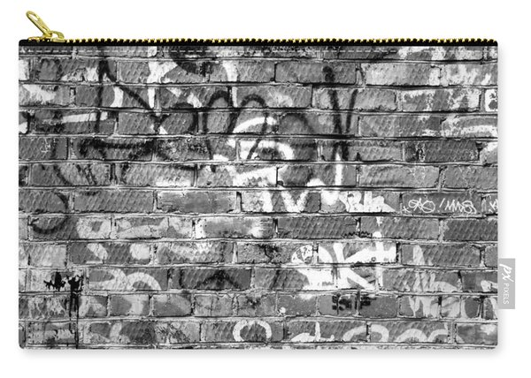 Red Construction Brick Wall And Spray Can Art Signatures Carry-all Pouch