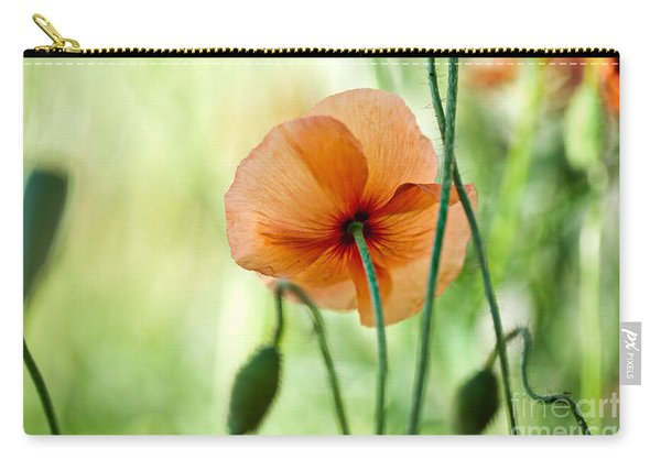 Red Corn Poppy Flowers 02 Carry-all Pouch