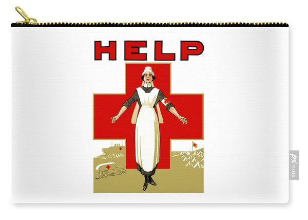 Red Cross Nurse - Help Carry-all Pouch