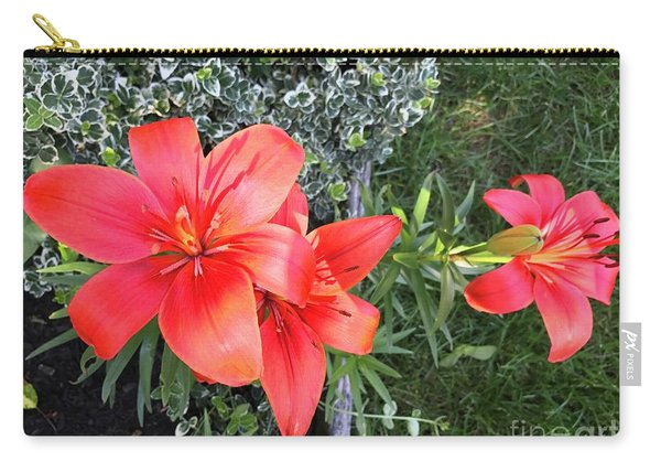 Red Day Lilies Carry-all Pouch