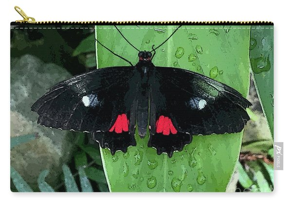 Red Design On Wings Carry-all Pouch