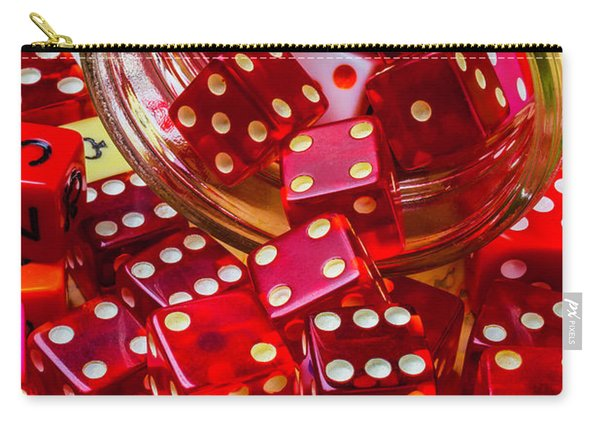 Red Dice Spilling Out Carry-all Pouch