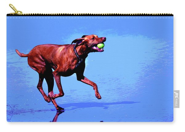 Red Dog Running Carry-all Pouch