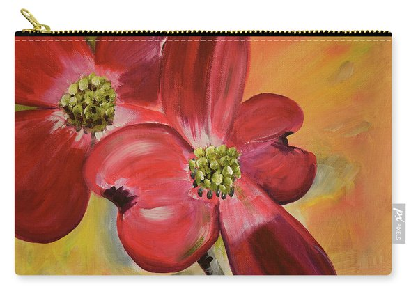 Red Dogwood - Canvas Wine Art Carry-all Pouch