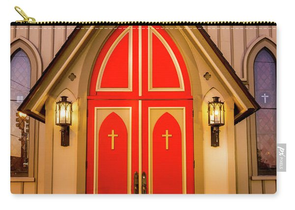 Carry-all Pouch featuring the photograph Red Doors by Allin Sorenson