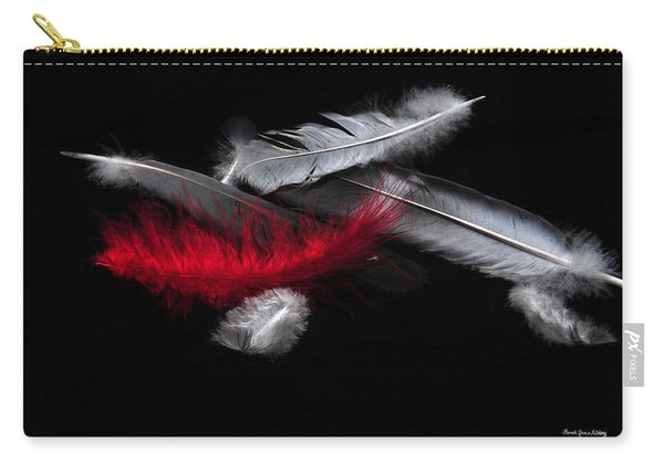 Red Feather Carry-all Pouch