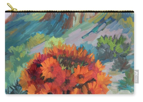 Red Flame Hedgehog Cactus Carry-all Pouch