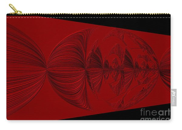 Red And Black Design. Art Carry-all Pouch