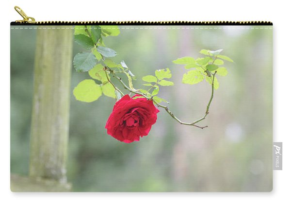 Carry-all Pouch featuring the photograph Red Flower Garden by Raphael Lopez