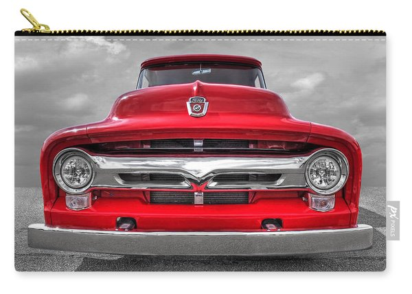 Red Ford F-100 Head On Carry-all Pouch