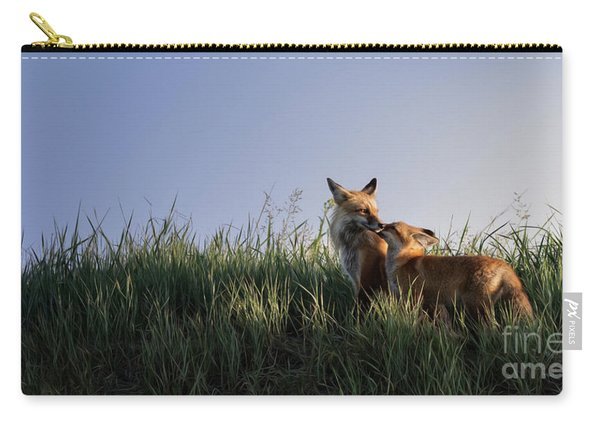 Red Fox Morning Carry-all Pouch