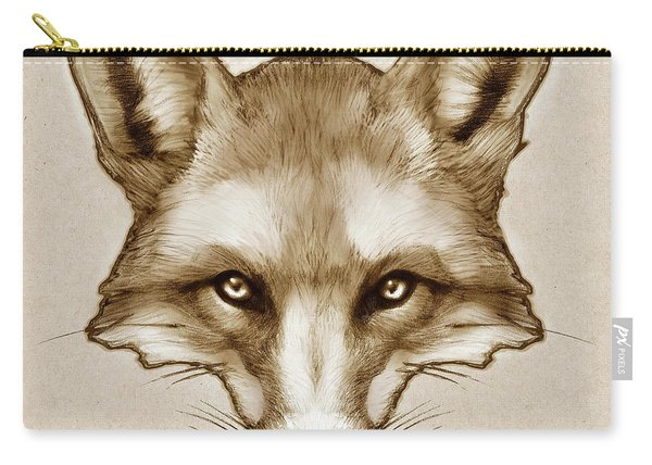 Red Fox Sketch Carry-all Pouch