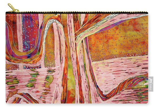 Red-gold Autumn Glow River Tree Carry-all Pouch