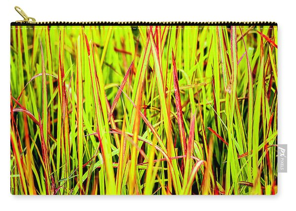 Red Green And Yellow Grass Carry-all Pouch