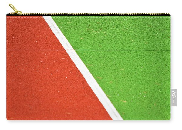 Red Green White Line And Tennis Ball Carry-all Pouch