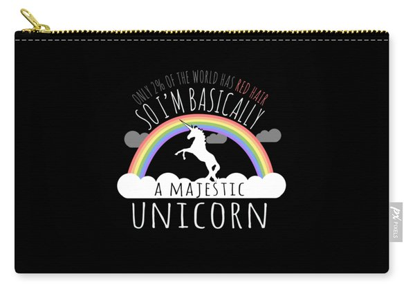 Red Hair Majestic Unicorn Funny Redhead Carry-all Pouch