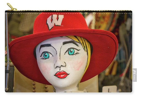 Red Hat On Mannequin Head Carry-all Pouch