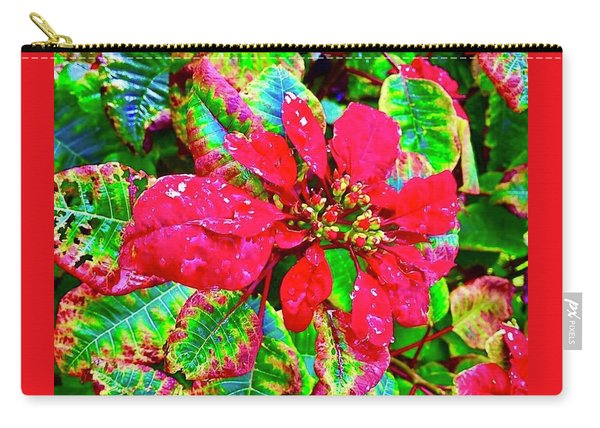 Red Hawaiian Poinsettia Carry-all Pouch
