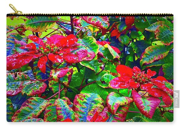 Red Hawaiian Poinsettias In Puna Carry-all Pouch