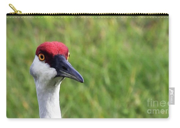 Red Headed Crane Carry-all Pouch
