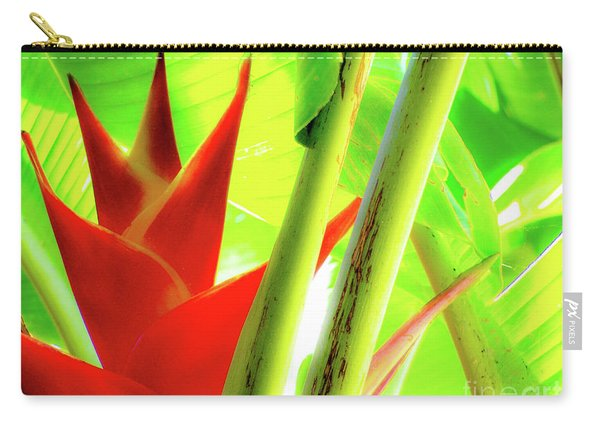 Red Heliconia Carry-all Pouch