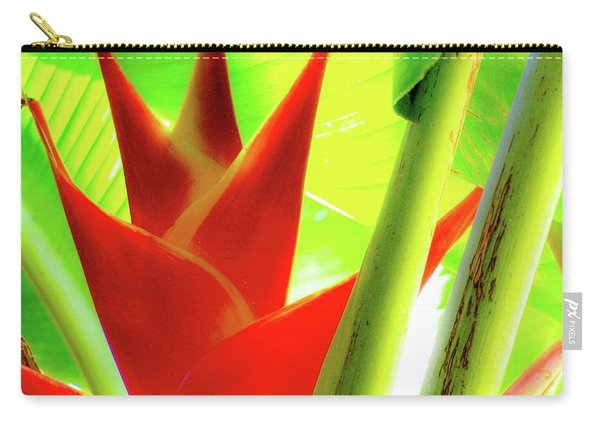 Red Heliconia Plant Carry-all Pouch
