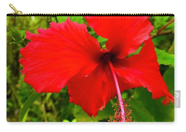Red Hibiscus In Puna Carry-all Pouch