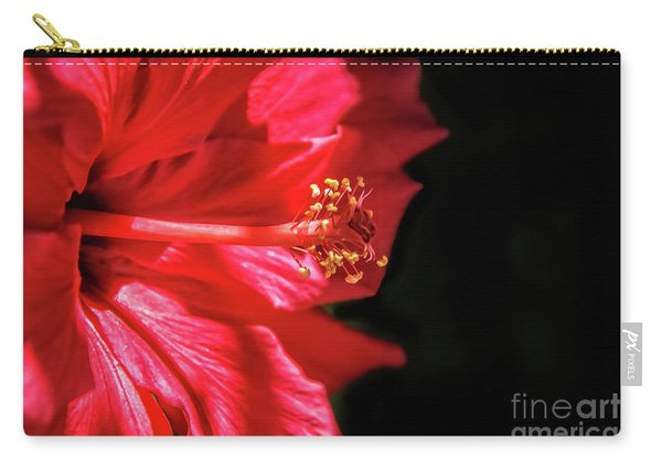 Red Hibiscus Macro Carry-all Pouch