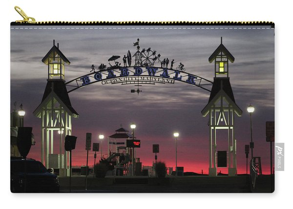 Red Horizon Thru The Boardwalk Arch Carry-all Pouch
