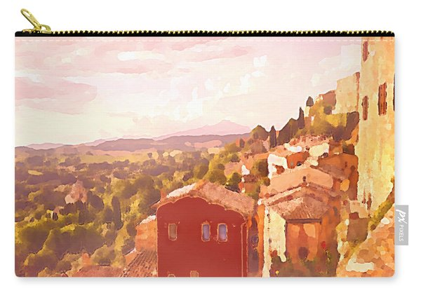 Red House On A Hill Carry-all Pouch