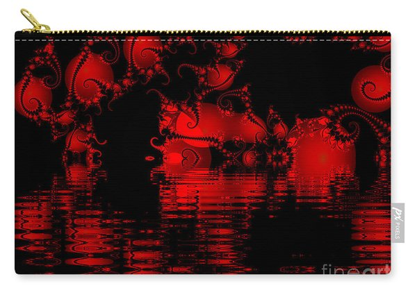 Red Lake Cave Fractal Carry-all Pouch