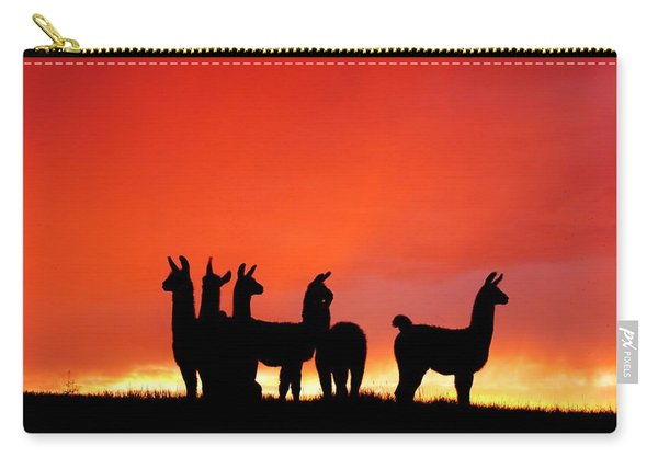 Red Llama Sunset 1 Carry-all Pouch