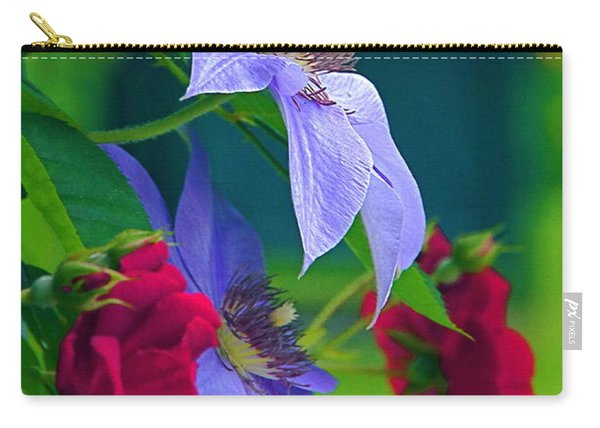 Red Meets Lavender Carry-all Pouch