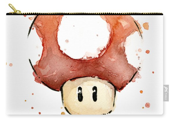 Red Mushroom Watercolor Carry-all Pouch