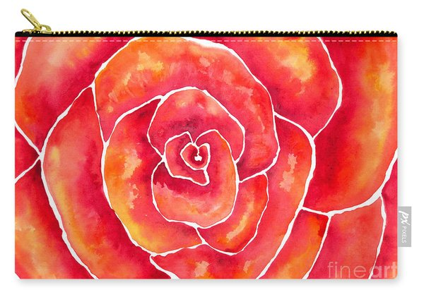 Red-orange Rose Macro Carry-all Pouch