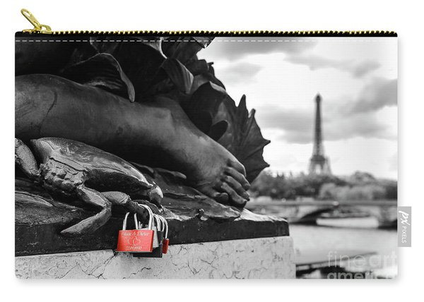 Red Padlocks In Paris Carry-all Pouch